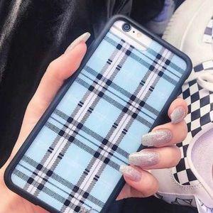 Wildflower blue plaid IPhone 6/7/8 Case